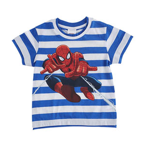 Ultimate Spider-Man Kısa Kol Tişört Mavi (2-8 yaş )