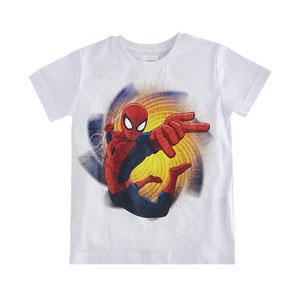 Ultimate Spider-Man Kısa Kol Tişört  Beyaz (2-8 yaş )
