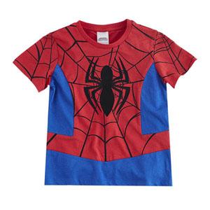 Ultimate Spider-Man Kısa Kol Tişört  Kırmızı (2-8 yaş)