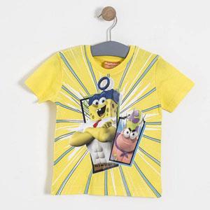 Lisanslı Sponge Bob Kısa Kol Tişört Çim (2-7 yaş)
