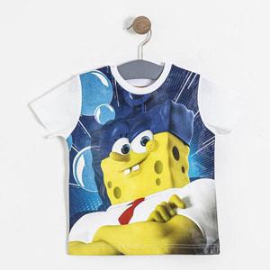 Sponge Bob Erkek Çocuk Kısa Kol Tişört Lacivert (2-7 yaş)