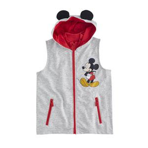 Disney Mickey Kapüşonlu Yelek Açık Gri Melanj (9 ay-7 yaş)
