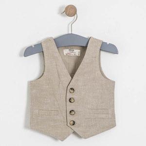 Erkek Çocuk Kısa Kol Yelekli Gömlek Çöl (2-7 yaş)
