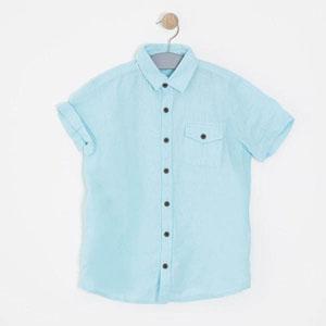 Erkek Çocuk Kısa Kol Gömlek Mavi (8-12 yaş)