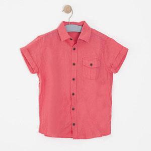 Erkek Çocuk Kısa Kol Gömlek Mercan (8-12 yaş)