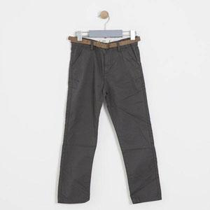 Erkek Çocuk Kemerli Pantolon Füme (8-12 yaş)