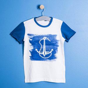 Erkek Çocuk Kısa Kol Tişört Mavi  (8-12 yaş)
