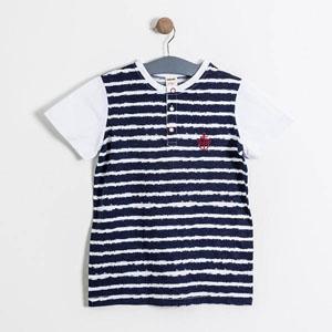 Erkek Çocuk Kısa Kol Cepli Tişört Beyaz  (8-12 yaş)
