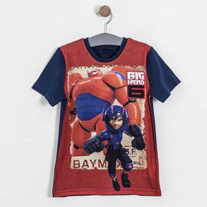 Lisanslı Big Hero 6 Kısa Kol Tişört Lacivert (7-9 yaş)