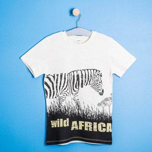 Safari Kısa Kol Tişört Ekru (8-12 yaş)