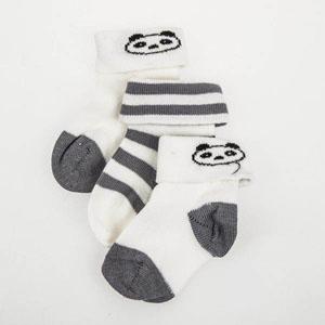 Üçlü Soket Çorap Set Beyaz (0-24 ay)