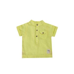 Best Pirate Kısa Kol Erkek Bebek Gömlek Limon  (0-24 ay)