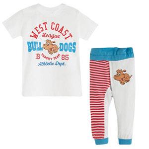 Kısa Kol Pijama Takımı Beyaz (0-3 yaş)