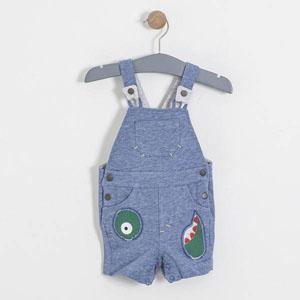 Erkek Bebek Kot Tulum İndigo Melanj (0 ay-3 yaş)