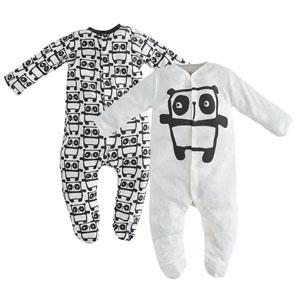 Erkek Bebek İkili Tulum Set Ekru  (0-18 ay)