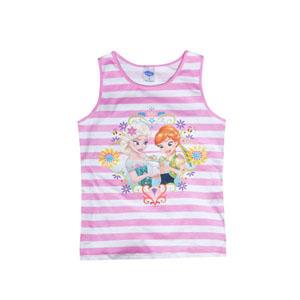 Disney Frozen Kız Çocuk Kolsuz Tişört Pembe  (4-7 yaş)