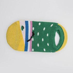 Kız Desenli Patik Çorap Mavi (23-34 numara)