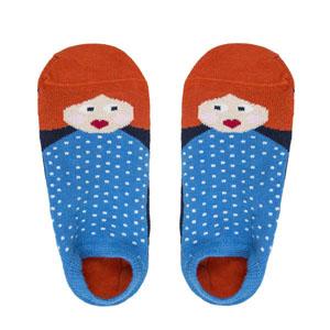 Kız Desenli Patik Çorap Lacivert (23-34 numara)