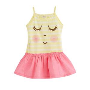 Kız Çocuk Askılı Elbise Sarı (9 ay -5 yaş)