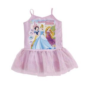 Disney Princess Askılı Elbise Pembe  (2-8 yaş)