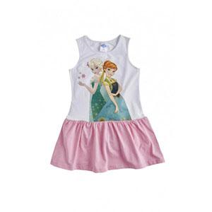 Disney Frozen Kız Çocuk Kolsuz Elbise Beyaz  (4-7 yaş)