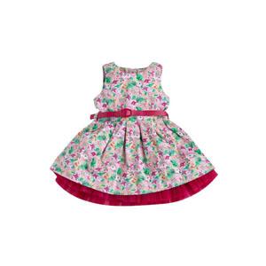 Kız Çocuk Kolsuz Elbise Gül ( 2-7 yaş)