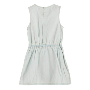 Kız Çocuk Kolsuz Kot Elbise Açık Mavi (9ay-7 yaş)