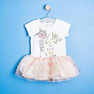 Kız Çocuk Askılı Elbise Sarı (9 ay-5 yaş)
