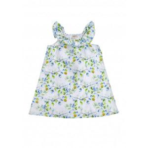 Kız Çocuk Kolsuz Elbise Beyaz  (2-7 yaş)