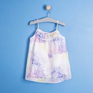 Kız Çocuk Askılı Elbise Beyaz (2-7 yaş)