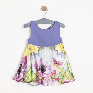 Kız Çocuk Kolsuz Elbise Lila (2-7 yaş)