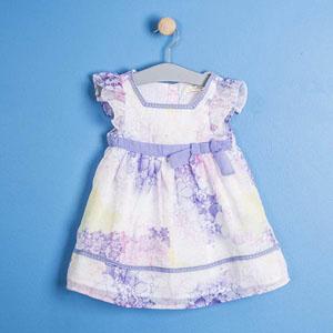 Kız Çocuk Kısa Kol Elbise Beyaz (2-7 yaş)