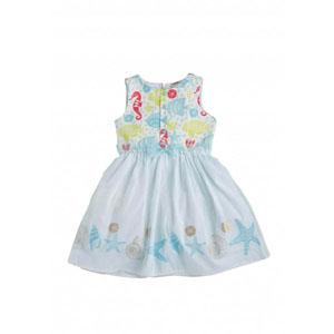 Kız Çocuk Kolsuz Elbise Pastel Mavi (2-7 yaş)