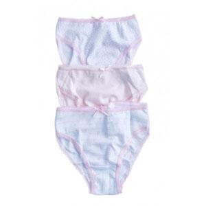 İç Çamaşır Üçlü Külot Set Pembe  (18 ay-6 yaş)
