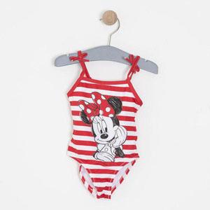 Lisanslı Disney Minnie Fiyonklu Mayo Kırmızı (12 ay-5 yaş)
