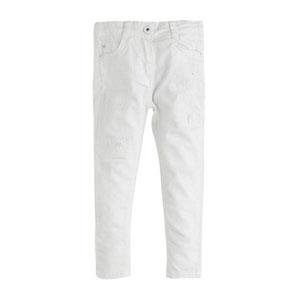 Kız Çocuk Kot Pantolon Beyaz (2-7 yaş)