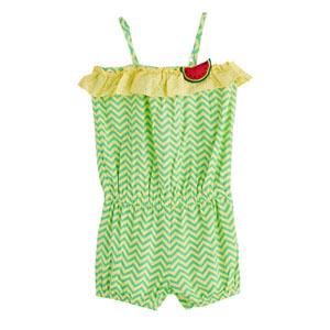Watermelon Askılı Kız Çocuk Tulum Sarı (2-7 yaş)
