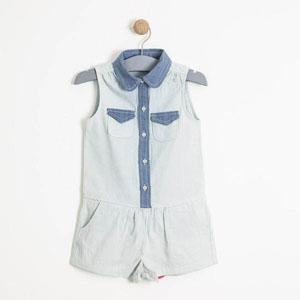 Kız Çocuk Tulum Açık Mavi (9 ay-7 yaş)