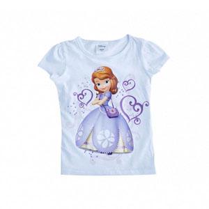 Disney Sofia The First Kısa Kol Tişört Beyaz  (2-8 yaş)