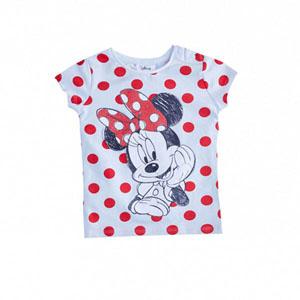 Disney Minnie Mouse Kız Çocuk Kısa Kol Tişört Beyaz (9 ay- 7 yaş)