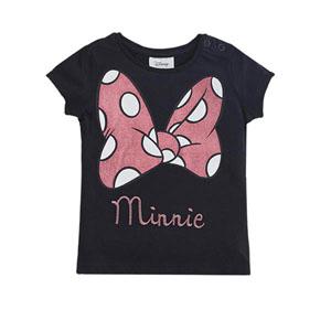 Disney Minnie Mouse Kız Çocuk Kısa Kol Tişört Siyah  (9 ay- 7 yaş)