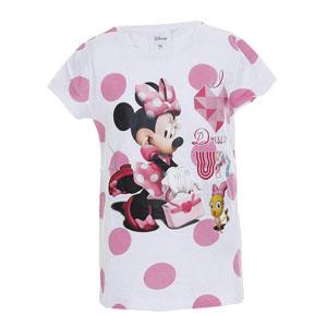 Disney Minnie Mouse Kısa Kol Tişört Beyaz (9 ay- 7 yaş)