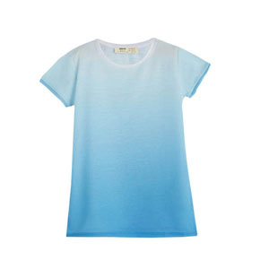 Kız Çocuk Kısa Kol Tişört Mavi (9 ay-12 yaş)