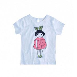Kız Çocuk Kısa Kol Tişört Beyaz (2-7 yaş)
