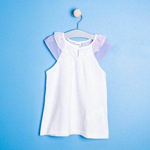 Kız Çocuk Kolsuz Bluz Beyaz (8-12 yaş)