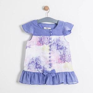 Kız Çocuk Kısa Kol Bluz Lila (8-12 yaş)