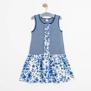 Kız Çocuk Askılı Elbise Navy (8-12 yaş)