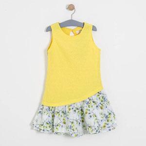 Kız Çocuk Kolsuz Elbise Sarı (8-12 yaş)