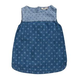Kız Çocuk Kolsuz Kot Elbise Açık Mavi (8-12 yaş)