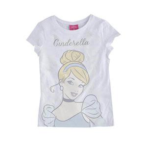 Disney Cinderella Kısa Kol Tişört Beyaz  (8-10 yaş)